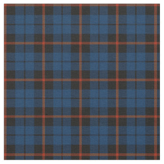 dark blue with red strip plaid print2 fabric