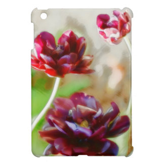 Dark Bordeaux Peony Flowering Tulip Trio iPad Mini Cover