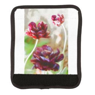 Dark Bordeaux Peony Flowering Tulip Trio Luggage Handle Wrap