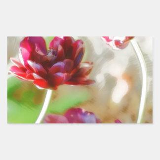 Dark Bordeaux Peony Flowering Tulip Trio Sticker