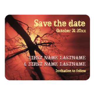 Dark Branches Save the Date Card