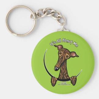 Dark Brindle Greyhound IAAM Keychain