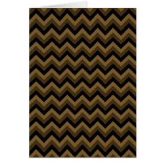 Dark Brown and Black Zigzag Pattern. Card