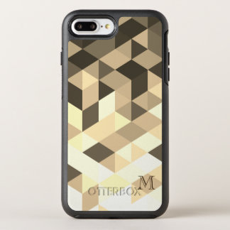 Dark Brown And Sepia Geometric Shapes OtterBox Symmetry iPhone 8 Plus/7 Plus Case
