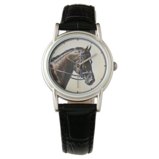 Dark Brown Bay Trakehner Dressage Horse Watches