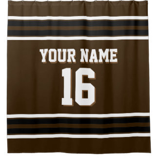 Dark Brown Black White Stripes Sports Jersey
