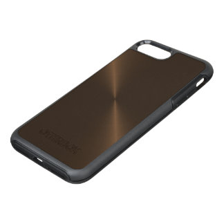 Dark Brown Bronze Metal OtterBox Symmetry iPhone 7 Plus Case