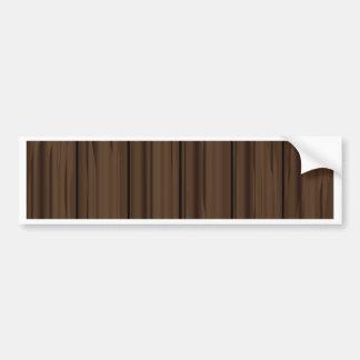 Dark Brown Fence Fence Bumper Sticker