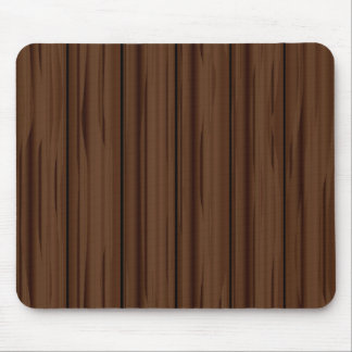 Dark Brown Fence Fence Mouse Pad
