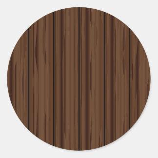 Dark Brown Fence Fence Round Sticker