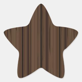 Dark Brown Fence Fence Star Sticker