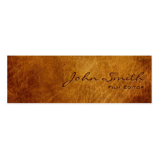 Dark Brown Leather Film Editor Business Card