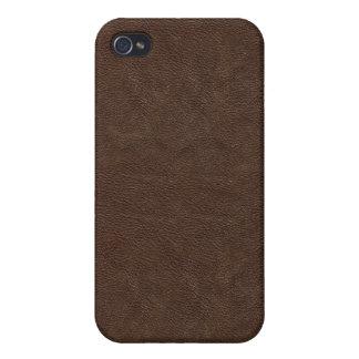Dark Brown Leather Look  iPhone 4 Case