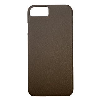 Dark Brown Leather Look iPhone 7 case