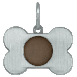 Dark Brown Leather Texture Pattern Background Pet Tag