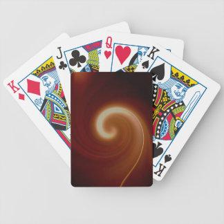 Dark Brown Light Spiral Art Bicycle Playing Cards