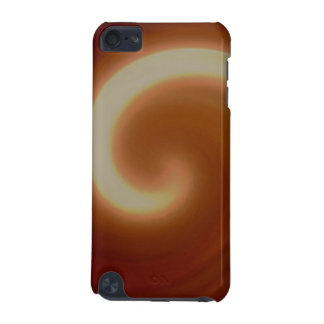 Dark Brown Light Spiral Art iPod Touch 5G Covers