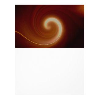 Dark Brown Light Spiral Art Letterhead