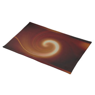 Dark Brown Light Spiral Art Placemat