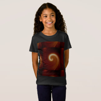 Dark Brown Light Spiral Art T-Shirt