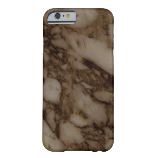 Dark Brown Marble Barely There iPhone 6 Case