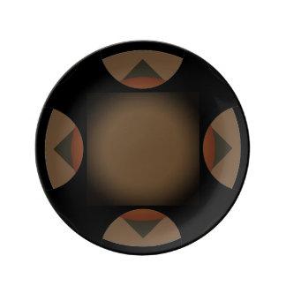 Dark Brown Motif accent Plate