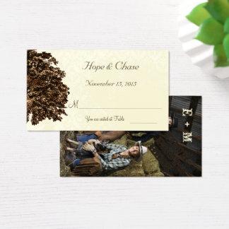 Dark Brown Oak Tree Place Cards