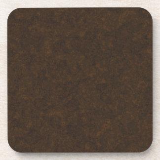 Dark Brown Pattern Coasters