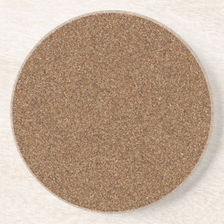 DARK BROWN SAND TEXTURE BEVERAGE COASTERS