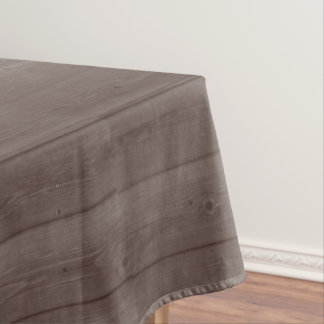 Dark brown wood grain county chic tablecloth