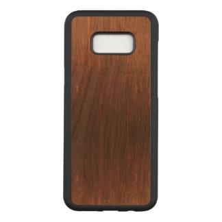 Dark Brown Wood on Carved Samsung Galaxy S8+ Case