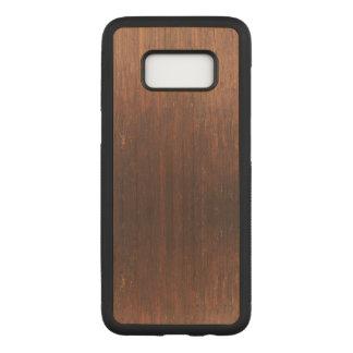 Dark Brown Wood on Carved Samsung Galaxy S8 Case
