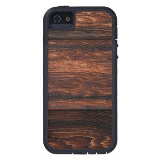 Dark Brown Wood Panels Printed iPhone 5 Case