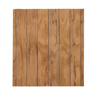 Dark brown wooden floor texture notepad