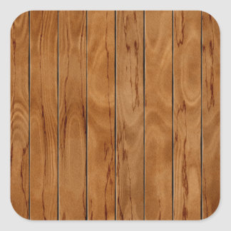 Dark brown wooden floor texture square sticker