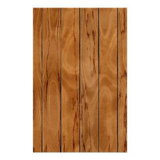 Dark brown wooden floor texture stationery