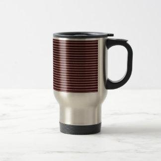 dark burgundy red stripes travel mug