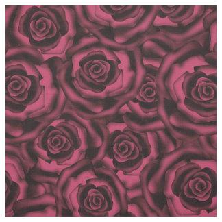 Dark Burgundy roses . Fabric
