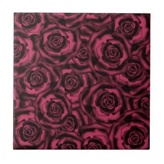 Dark Burgundy roses . Tile
