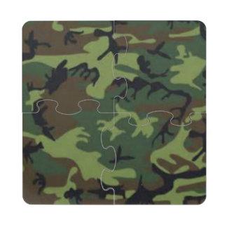 Dark Camo Puzzle Coaster