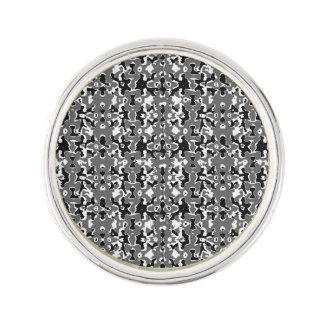 Dark Camo Style Design Lapel Pin