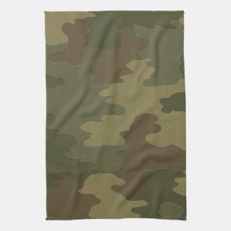Dark Camouflage Kitchen Towel