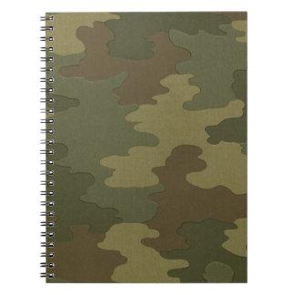 Dark Camouflage Spiral Notebook
