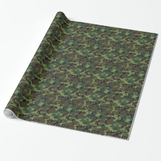 Dark camouflage wrapping paper