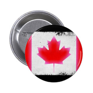 Dark Canadian Flag 2 Inch Round Button