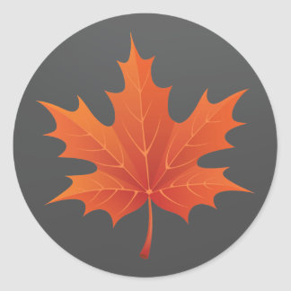 Dark Canadian Round Sticker