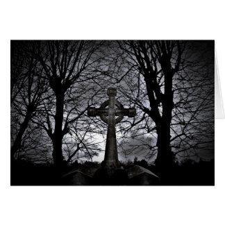 Dark celtic cross card
