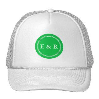 Dark Chalky Pastel Green Wedding Party Set Trucker Hat