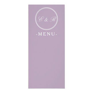 "Dark Chalky Pastel Purple Wedding Decoration 4"" X 9.25"" Invitation Card"