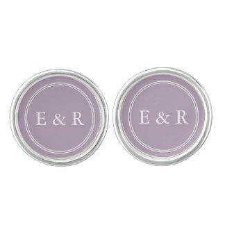 Dark Chalky Pastel Purple Wedding Party Gifts Cufflinks